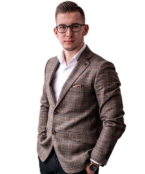 Jakub Sykucki - Starszy doradca ds. sprzedaży nieruchomości w Biurze Nieruchomości Ideal Home w Rzeszowie.